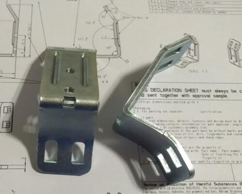 Custom sheet metal stamping parts dimension checking
