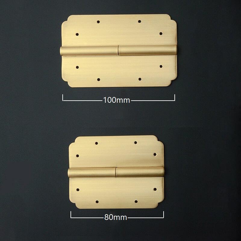 Brass stamping supplies, Custom size brass stamping hinges